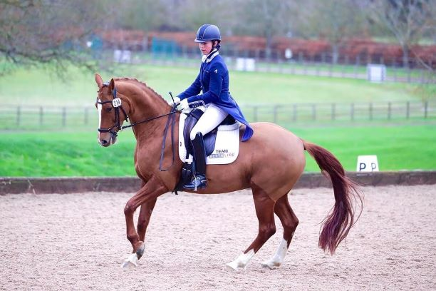 charlotte pip blain and roo dressage rider